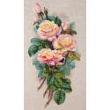 Винтажные розы Набор для вышивания MEREJKA K-67A