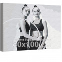 Арина и Дина Аверины / Художественная гимнастика 80х100 см Раскраска картина по номерам на холсте AAAA-RS285-80x100