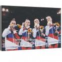 Спортивная гимнастика / Олимпиада Токио 80х120 см Раскраска картина по номерам на холсте AAAA-RS299-80x120