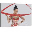 Дина Аверина / Художественная гимнастика / Олимпиада Токио 100х150 см Раскраска картина по номерам на холсте AAAA-RS301-100x150