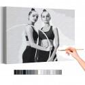 Арина и Дина Аверины / Художественная гимнастика Раскраска картина по номерам на холсте AAAA-RS285