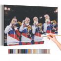 Спортивная гимнастика / Олимпиада Токио Раскраска картина по номерам на холсте AAAA-RS299