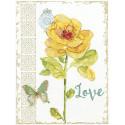 Желтый цветок Набор для вышивания Design works 3416