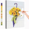 Зонтик с подсолнухами Раскраска картина по номерам на холсте AAAA-RS298