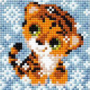 Снежный тигренок Алмазная вышивка мозаика Brilliart АМ0064