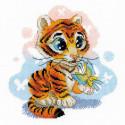Любопытный тигренок Набор для вышивания Риолис 1976