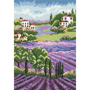 Лавандовые поля. Прованс Алмазная вышивка (мозаика) Sddi Anya
