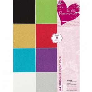 8 цветов Микроблестки Набор бумаги для скрапбукинга, кардмейкинга Docrafts