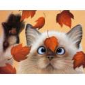 Осенние листья Алмазная частичная вышивка (мозаика) Molly KM0932