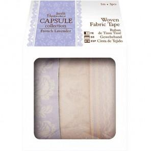 French Lavender Набор лент тканевых с рисунком на клеевой основе Docrafts