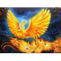 Жар-птица Алмазная частичная вышивка (мозаика) Molly KM0939