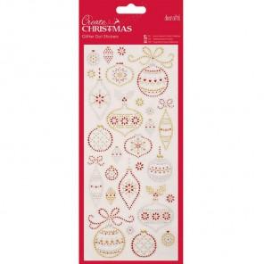 Рождественские шары Create Christmas Стикеры для скрапбукинга, кардмейкинга Docrafts