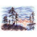 Алый закат Алмазная вышивка мозаика Brilliart МС-077