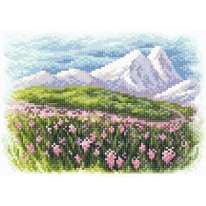 Весна в предгорье Алмазная вышивка мозаика Brilliart МС-078