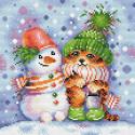 Полосатая зима Алмазная вышивка мозаика Brilliart МС-098