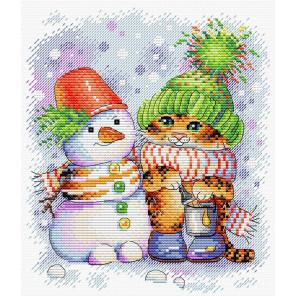 Полосатая зима Набор для вышивания МП Студия М-620
