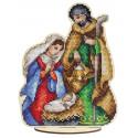 Святое семейство Набор для вышивания на деревянной основе МП Студия О-026