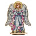 Рождественский ангел Набор для вышивания на деревянной основе МП Студия О-027