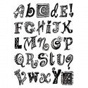 Алфавит английский узорчатый Штампы для скрапбукинга, кардмейкинга Stamperia
