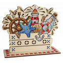 Морские сокровища Набор для вышивания на деревянной основе МП Студия О-037