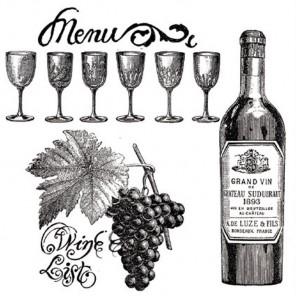 Вино Штампы для скрапбукинга, кардмейкинга Stamperia