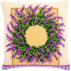Венок из лаванды Набор для вышивания подушки Vervaco PN-0173731