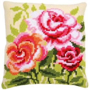 Розы Набор для вышивания подушки Vervaco PN-0166936
