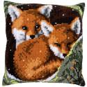 Лисы Набор для вышивания подушки Vervaco PN-0162175