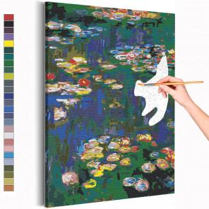 Кувшинки Клод Моне / Известные картины Раскраска картина по номерам на холсте AAAA-RS266