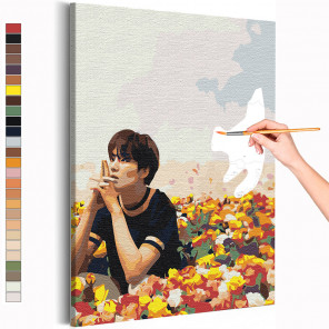 Мин Юнги (Шуга) / Корейская K-POP группа BTS Раскраска картина по номерам на холсте AAAA-RS230