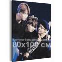 Bangtan Boys / BTS Корейская K-POP группа 80х100 см Раскраска картина по номерам на холсте AAAA-RS356-80x100