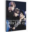 Bangtan Boys / BTS Корейская K-POP группа 100х125 см Раскраска картина по номерам на холсте AAAA-RS356-100x125