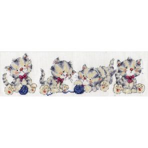 Кошачий ряд Набор для вышивания Design works 3255