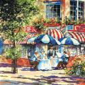 Солнечная сторона кафе Набор для вышивания Design works 2766