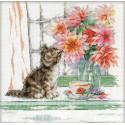 Любопытный котенок Набор для вышивания Design works 3395