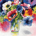 Анемоны Набор для вышивания Design works 2850