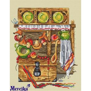 Каждой молодушечке - дом, сундук и кошечку Набор для вышивания Merejka K-09