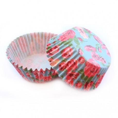 Розы на голубом фоне Набор бумажных форм для кексов Dolce Arti