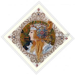 Блондинка (А. Муха) Набор для вышивания Merejka K-141