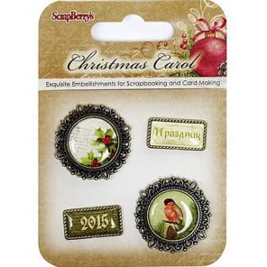 Ночь перед Рождеством 1 Набор металлических рамочек с эпоксидными стикерами Scrapberry's