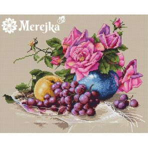 Натюрморт с виноградом Набор для вышивания Merejka K-20