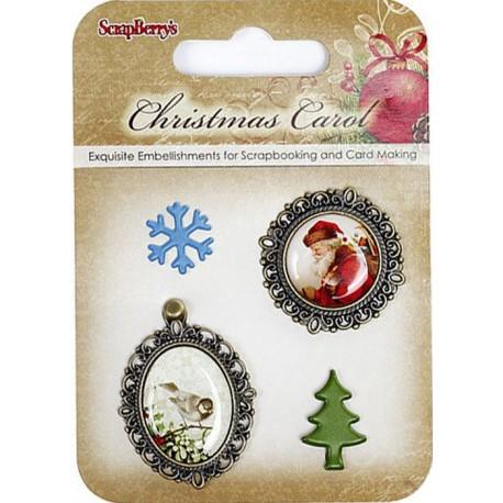 Ночь перед Рождеством 2 Набор металлических рамочек с эпоксидными стикерами Scrapberry's