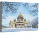 Исаакиевский собор зима / Санкт-Петербург 80х100 см Раскраска картина по номерам на холсте AAAA-RS248-80x100