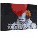 Клоун / Оно 100х150 см Раскраска картина по номерам на холсте AAAA-RS336-100x150