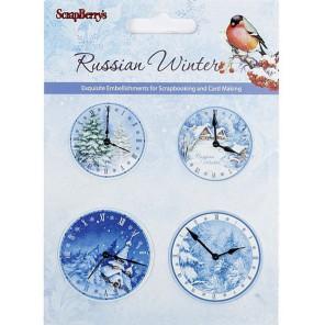 Русская зима Набор часиков для скрапбукинга, кардмейкинга Scrapberry's