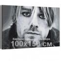 Курт Кобейн / Нирвана 100х150 см Раскраска картина по номерам на холсте AAAA-RS338-100x150