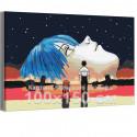 Евангелион / Evangelion Аниме 100х150 см Раскраска картина по номерам на холсте с неоновой краской AAAA-ANI050-100x150