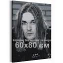 Йоэль Хокка / Blind Channel черно-белый 60х80 см Раскраска картина по номерам на холсте AAAA-RS161-60x80