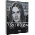 Йоэль Хокка / Blind Channel черно-белый 75х100 см Раскраска картина по номерам на холсте AAAA-RS161-75x100
