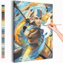 Аватар Аниме Раскраска картина по номерам на холсте с неоновой краской AAAA-ANI004